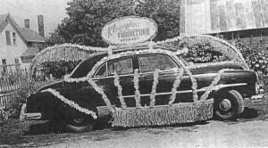 Kloempken Car dressed for parade