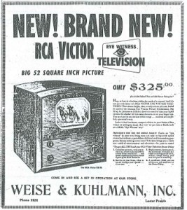 Early Ad from Weise & Kuhlmann, Inc. for Furniture Store/Undertaking