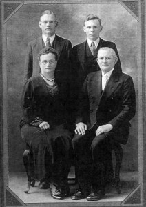 Rosy and Diedrich W. Kloempken and sons John (left) and Dietrich