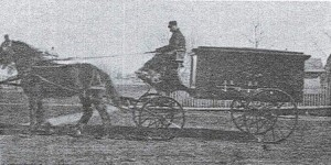 Paul Weise driving the hearse.