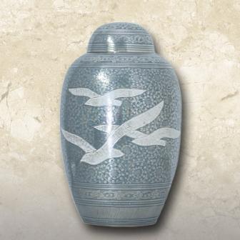 Doves Brass Urn