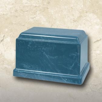 Cultured Marble Urn Blue