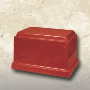 Cultured Marble Urn Red