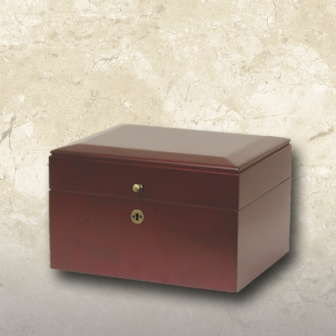Memory Chest Urn Cherry Stained Hardwood